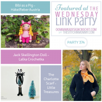 Wednesday Link Party 374 Features Bibi the Pig - Jack Skellington - Charlotte Scarf Instagram