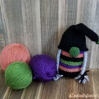 Witchy Halloween Gnome - Featured at Wednesday Link Party