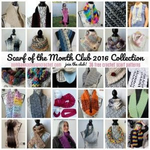 2016 Scarf of the Month Club Free Pattern Collection