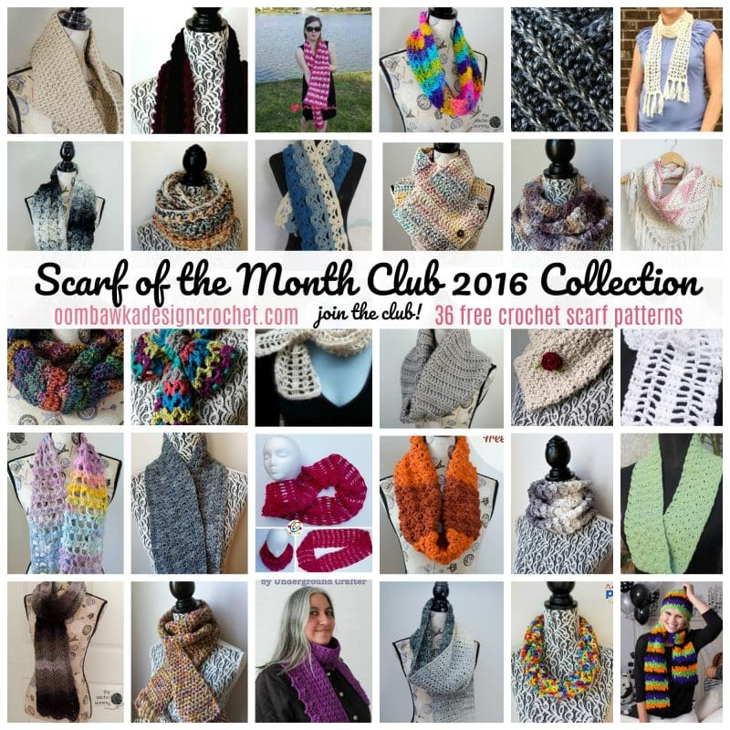2016 Scarf of the Month Club collection