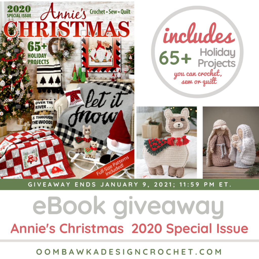 65+ Holiday Projects you can crochet, sew or quilt.  Review by Rhondda Mol Giveaway ends: January 9, 2021 at 11:59 pm ET.
