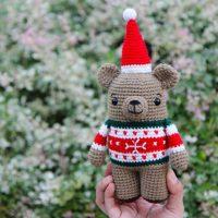 Bax the Crochet Christmas Bear