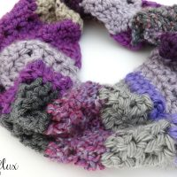 Chunky Violet Stashbuster Cowl by Fiber Flux