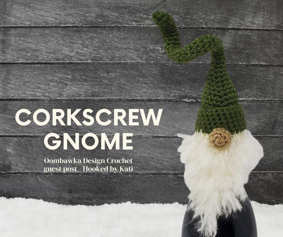 Corkscrew Gnome Bottle Topper - Crocheted Gnome