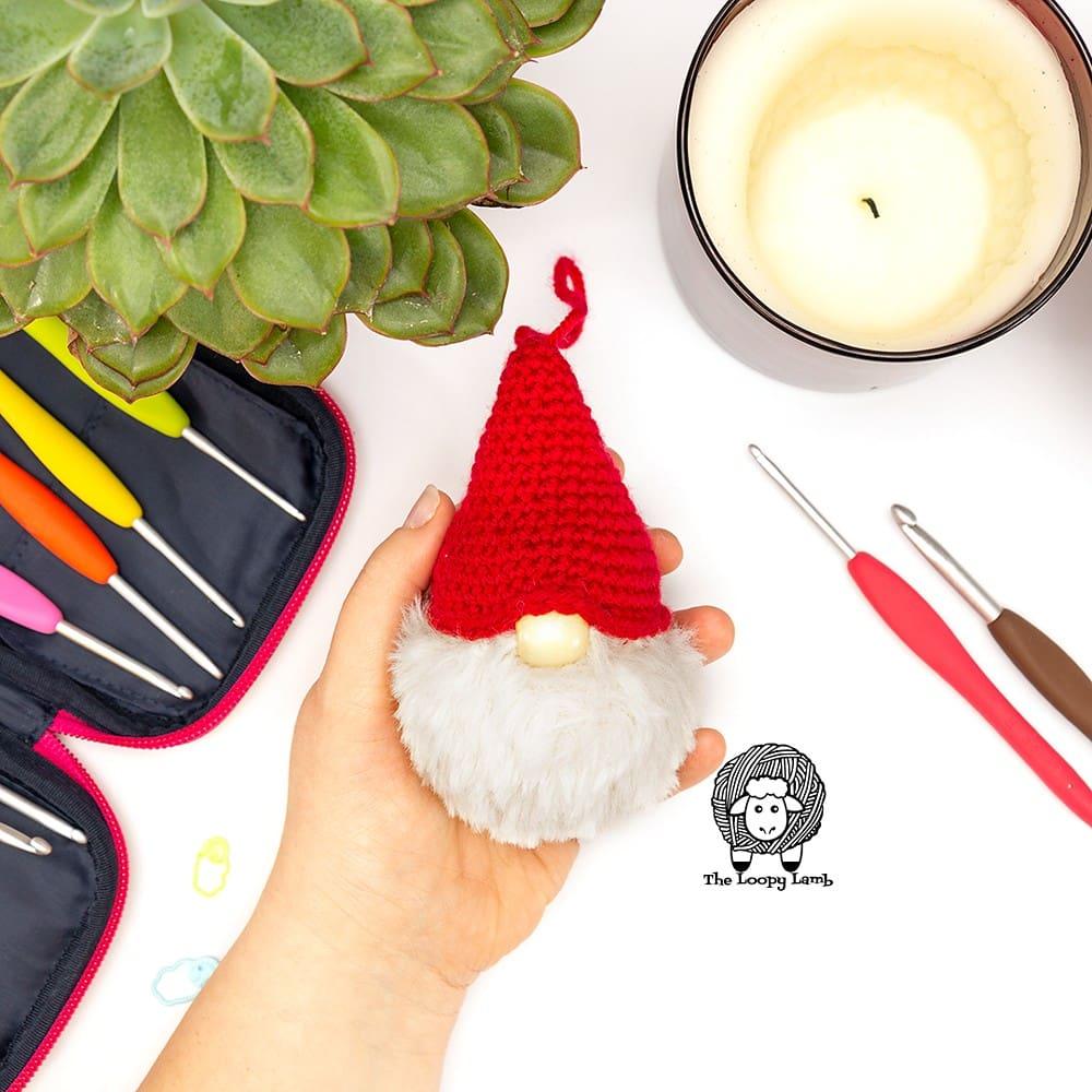 Crochet Gnome Christmas Ornaments Pattern - Free Pattern Friday