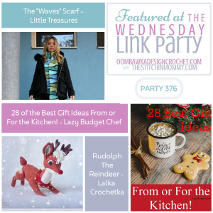 Featured Wednesday Link Party 376 Waves Scarf - 28 Gift Ideas - Rudolph