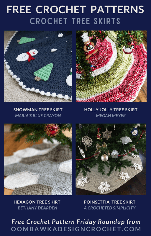 Have you ever thought of using your favorite hobby and a free Crochet Tree Skirt Pattern to make a Christmas Tree Skirt? It really is a brilliant idea and the store-bought ones can be very expensive!