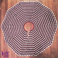 Granny Stripe Christmas Tree Skirt - FPF
