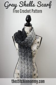 Gray-Shells-Scarf-Free-Crochet-Pattern