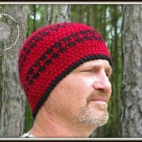 Hounds Tooth Beanie Hat Pattern - Free Pattern Friday