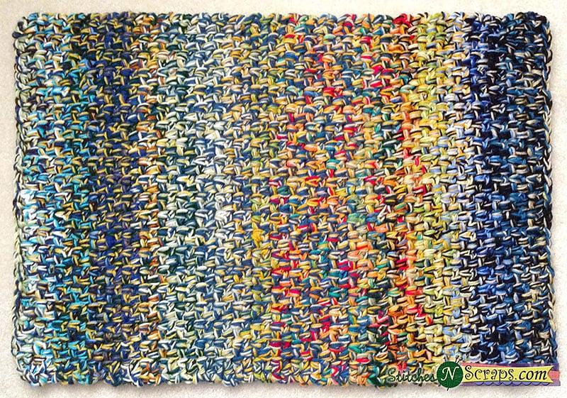 Linen Stitch Scrap Rug - Free Pattern Friday
