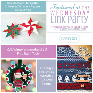 Link Party 378 Features Star Christmas Ornament - Christmas Wreath - Winter Wonderland