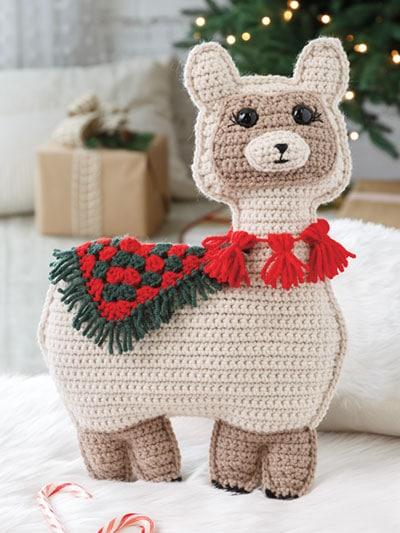 Holly Jolly Llama Pattern