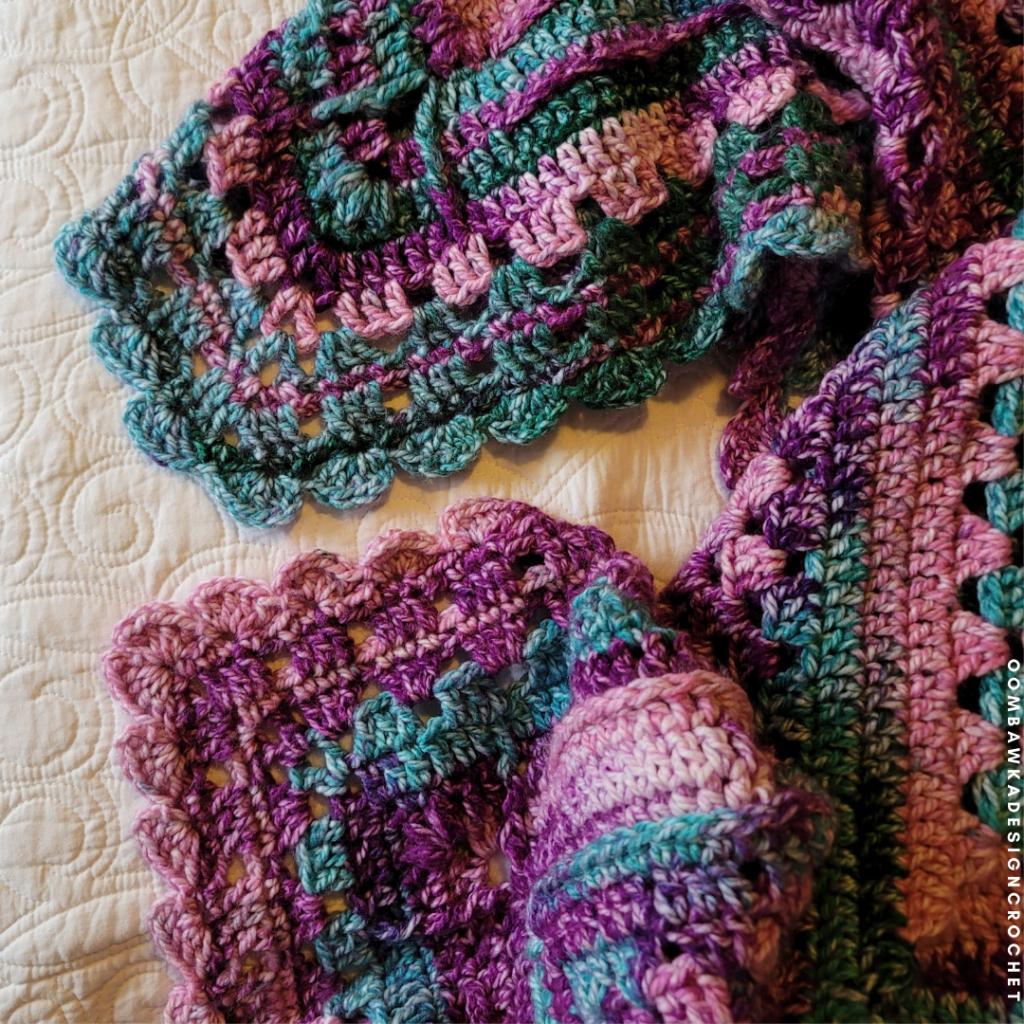 Looking Back Blanket. Free Crochet Pattern. Rhondda Mol.