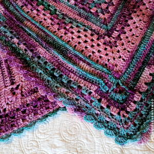 Looking Back Blanket Close-Up. Free Crochet Pattern. Rhondda Mol. Yarn: Hopscotch @redheartyarns @yarnspirations #afghanpattern #grannysquares