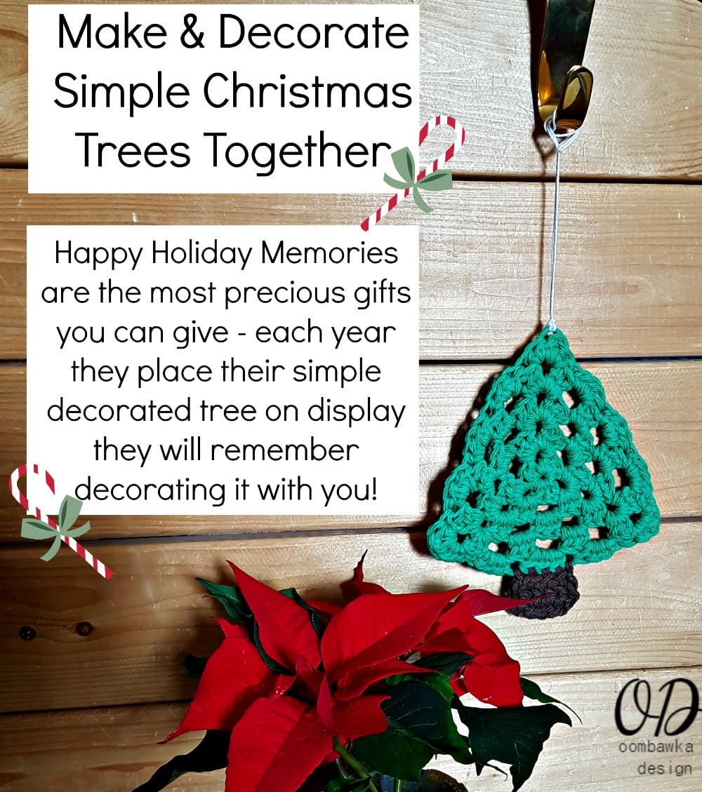 Make and Decorate Simple Christmas Trees Together - Happy memories are the most precious gifts you can give. Each year they place their simple decorated tree on display they will remember decorating it with you!