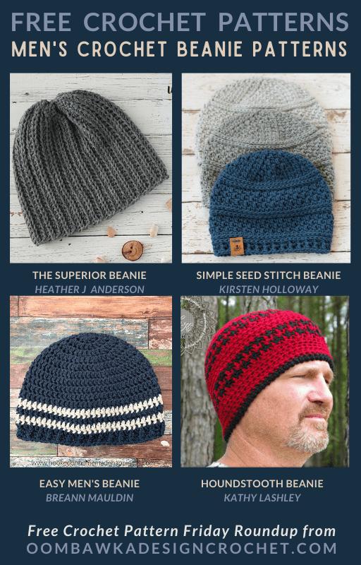 Men's Crochet Beanie Patterns - Free Pattern Friday