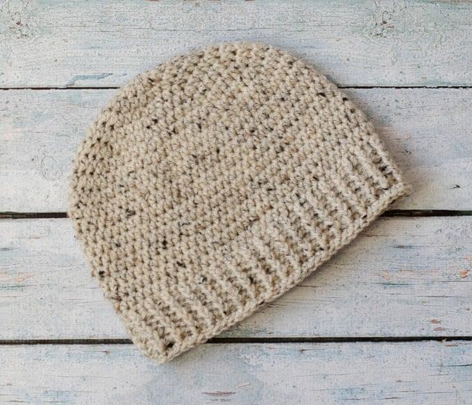 Salt of the Earth Men's Crochet Beanie - Free Pattern Friday