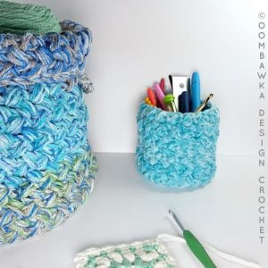 Stash Basket - Easy Stashbuster Project from Oombawka Design Crochet