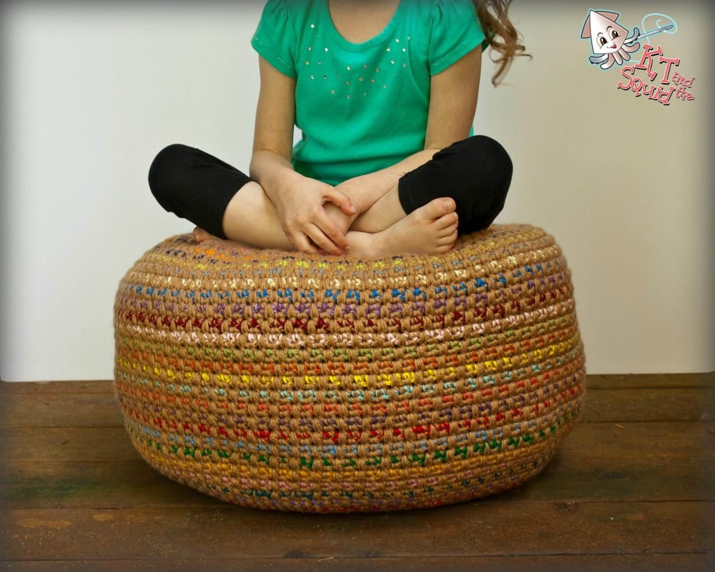 Stashbusting Monster Pouf - Free Pattern Friday