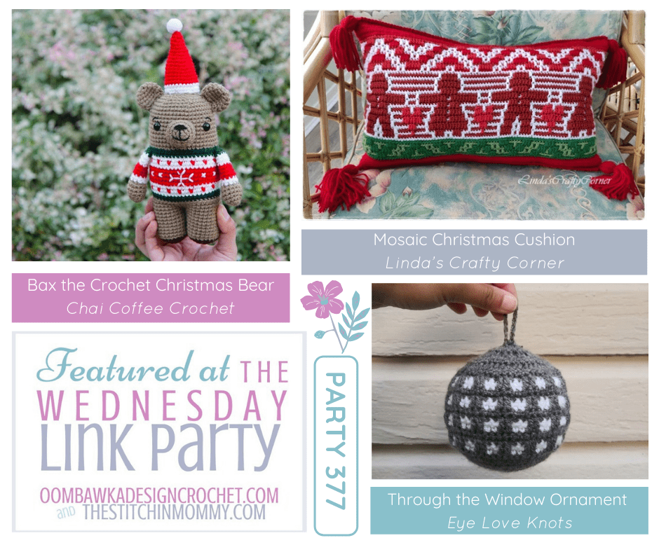 Wednesday Link Party 377 Features Bax - Mosaic Christmas - Bauble Ornament