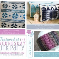 Wednesday Link Party 379 Features INSTA Crocheted Canal Houses, Stars and Snowflakes