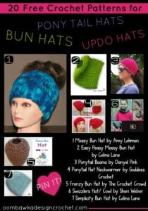 Ponytail Hats – 20 Free Crochet Patterns Perfect for Updos!