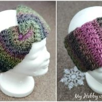 Double Layered Stars Twist Earwarmer - Wednesday Link Party 379