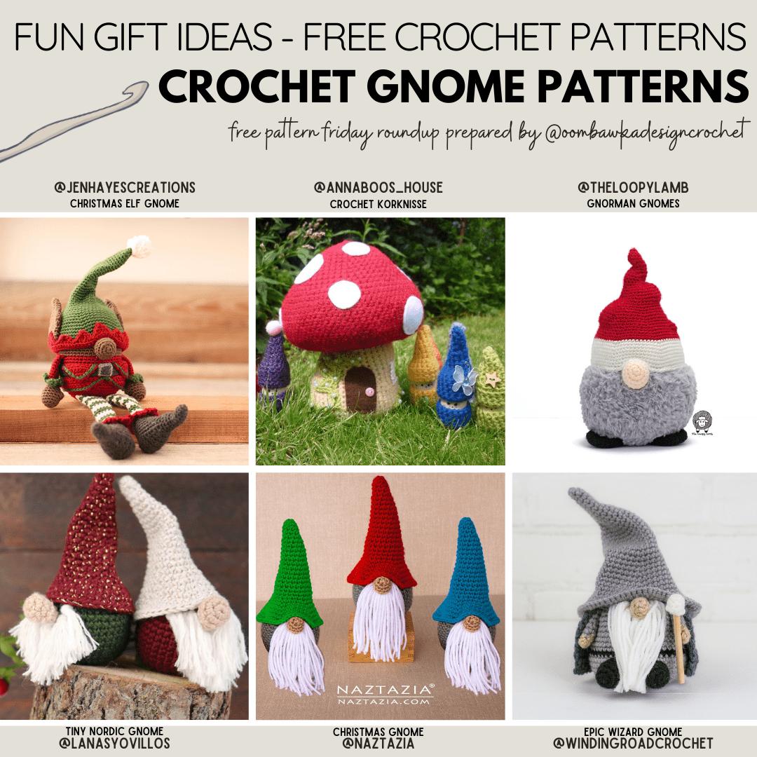 Crochet Gnome Patterns Oombawka Design Crochet