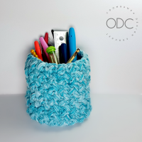 Stash Basket - Easy Stash buster Project from Oombawka Design Crochet