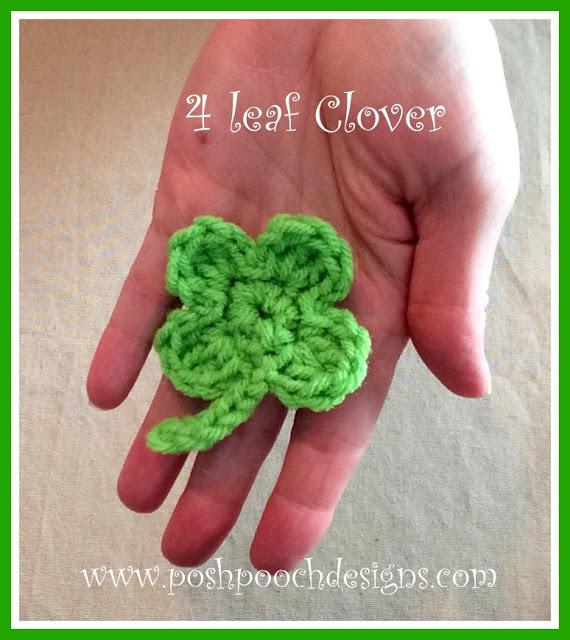 4 Leaf Clover Applique - Free Pattern Friday
