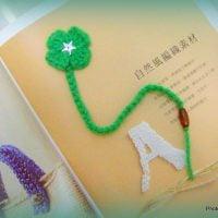 4 Leaf Clover Bookmark - Free Pattern Friday