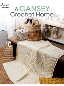 A Gansey Crochet Home Cover - Annie's Craft Store - eBook Review and Giveaway by Oombawka Design Crochet