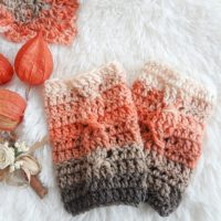 Crochet Cable Warmers - Featured Party 381