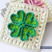Four Leaf Clover Square Motifs - Free Pattern Friday