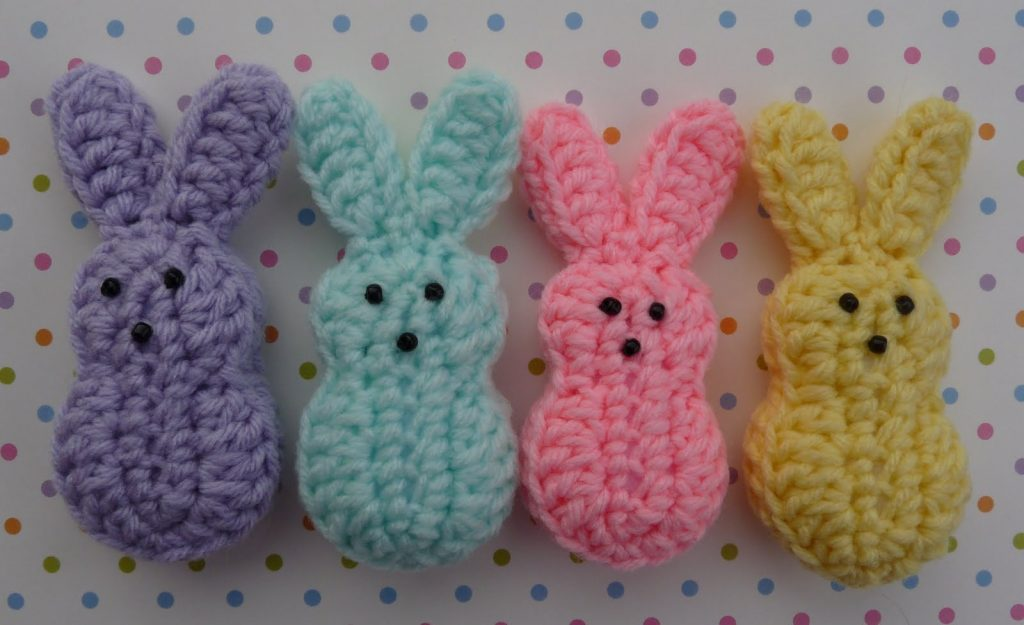 Easter Marshmallow Bunnies - Free Pattern Friday
