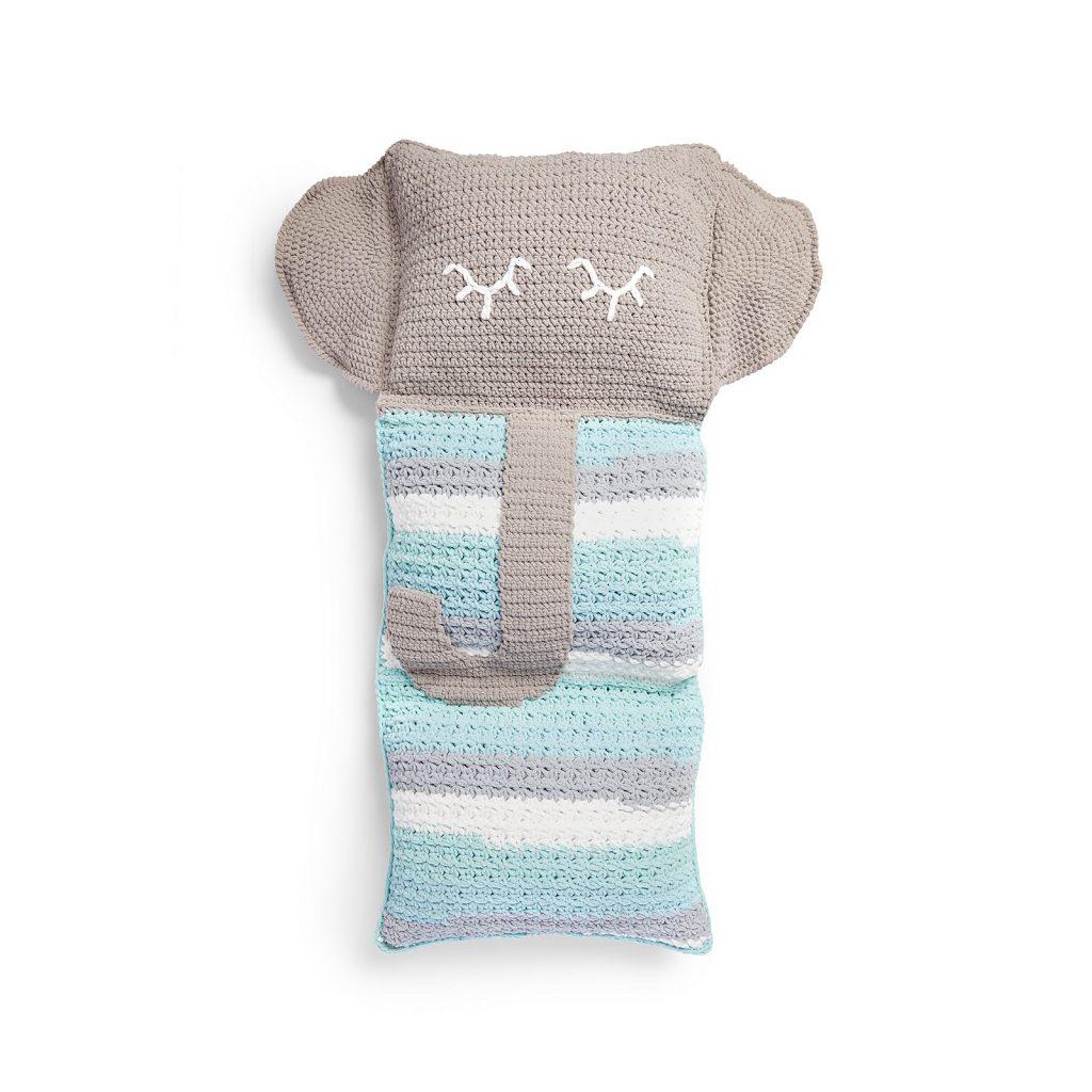 Fun Elephant Crochet Pillow - Free Pattern Friday