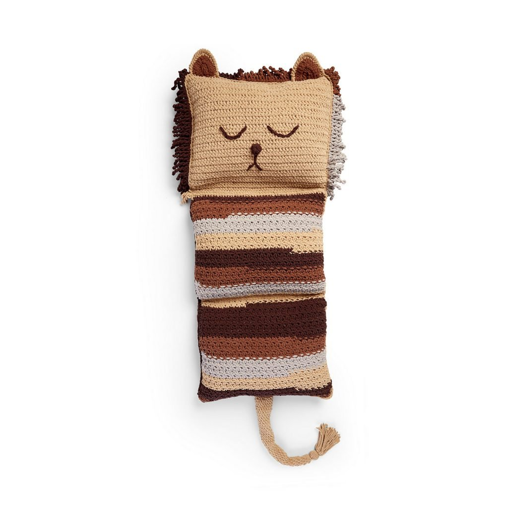 Fun Lion Crochet Floor Pillow - Free Pattern Friday
