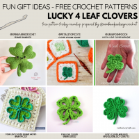Lucky 4 Leaf Clover Patterns Free Pattern Friday Roundup