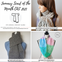 January 2021 Scarf of the Month CAL