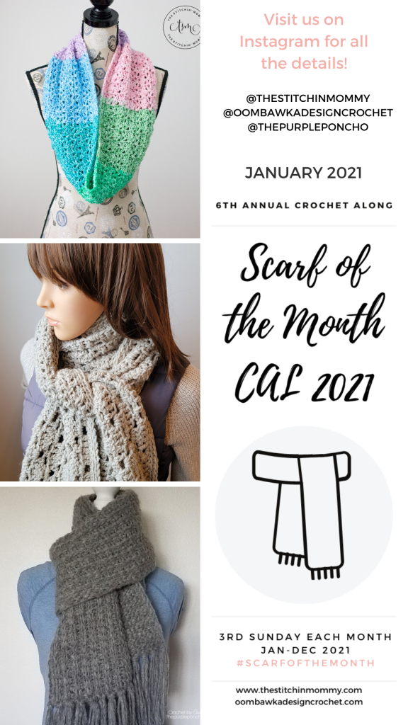 January Scarf of the Month CAL 2021 Stories