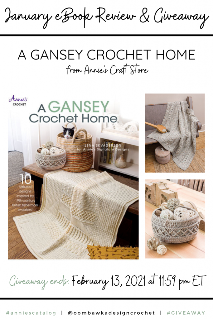 January eBook Review and Giveaway - A Gansey Crochet Home