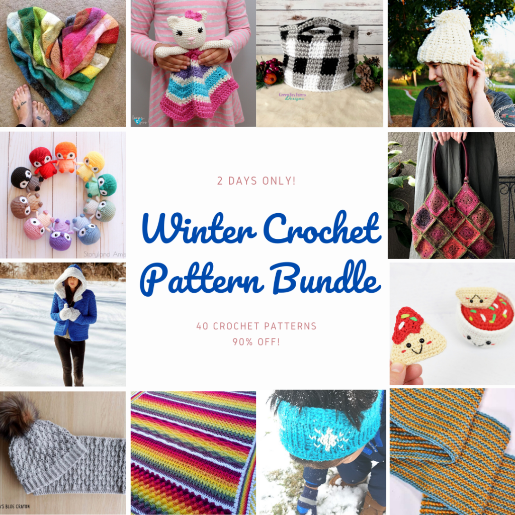 Winter Crochet Bundle - 40 Crochet Patterns Our new bundle is now available! Pop by to see what 40 patterns are included and what you can make in 2021 with this great crochet pattern collection.