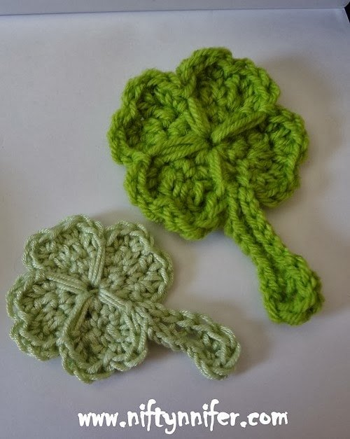 Lucky 4 Leaf Clover - Free Pattern Friday