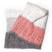 One Ball Easy Striped Blanket - Free Pattern Friday