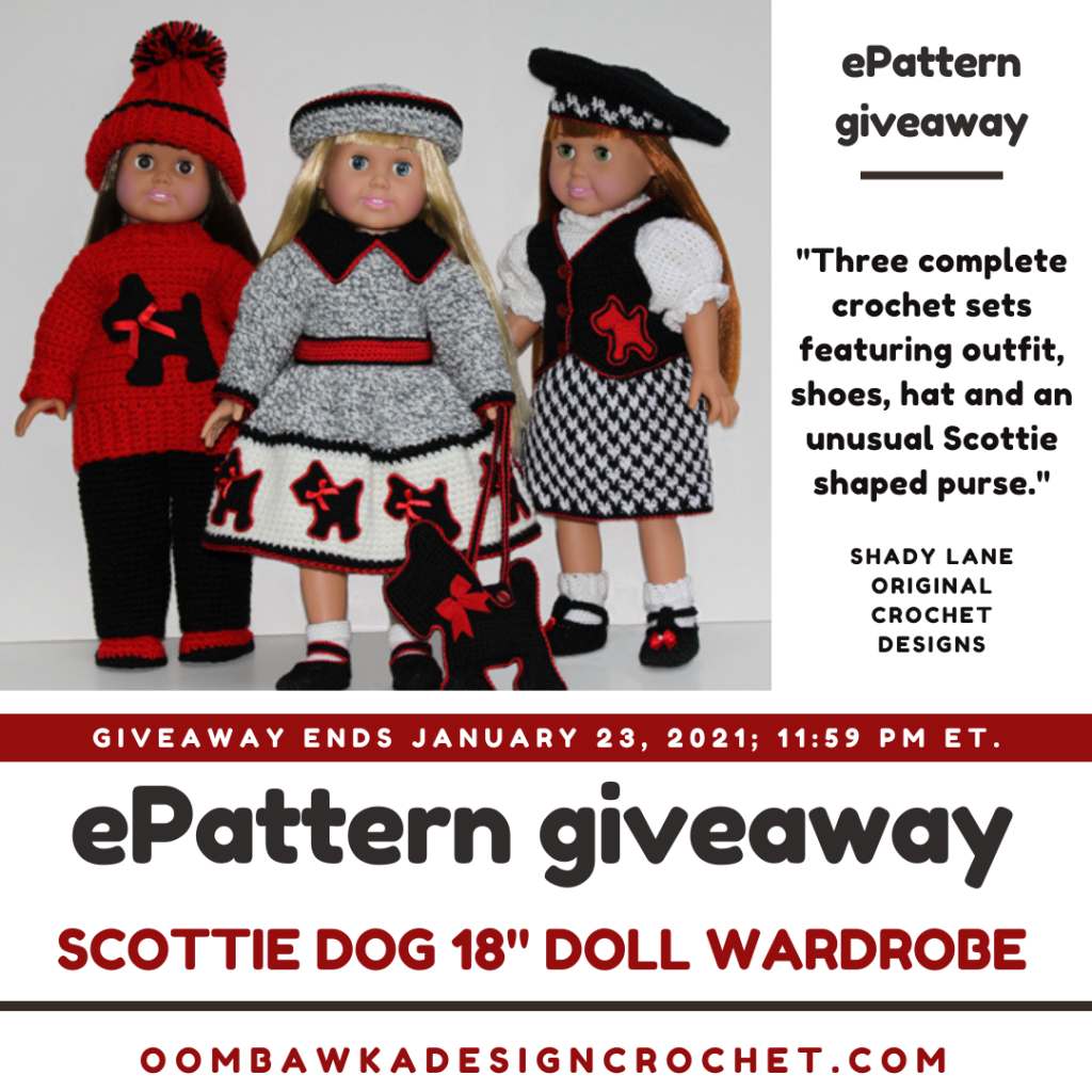 Scottie Dog 18 Inch Doll Wardrobe ePattern Review and Giveaway Ends Jan 23 2021