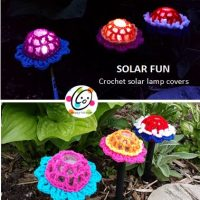Solar Fun Flower Lamp Covers - Free Pattern Friday