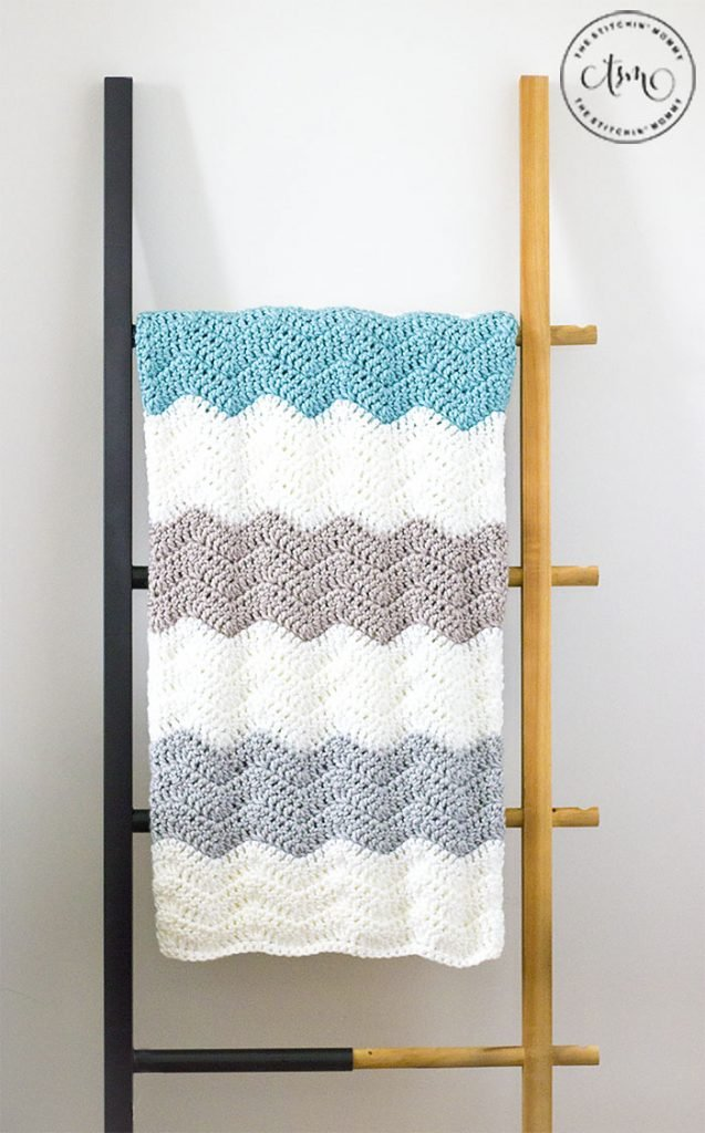The Simple Neutral Ripple Blanket - Free Pattern Friday
