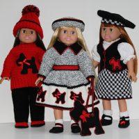 Scottie Dog 18 Inch Doll Wardrobe Patterns from ShadyLaneOriginalCrochetDesigns