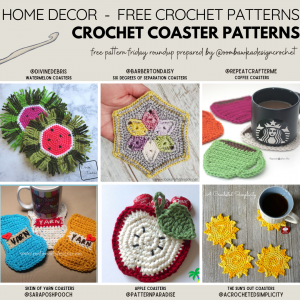 Crocheted Coaster Patterns - Free Pattern Friday - Instagram